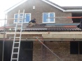 Roof of kitchen extension is nearing completion