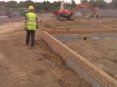Foundation complete, ready for delivery and placing of block and beam floor