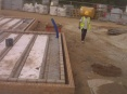 Block and beam floor awaiting 100mm concrete slab