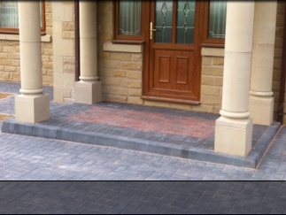 Photo of block paving in Sheffield, 2011.