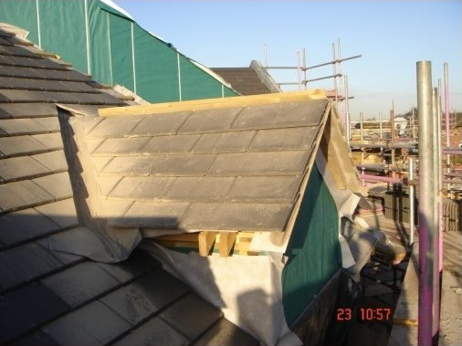 Dormer constructed