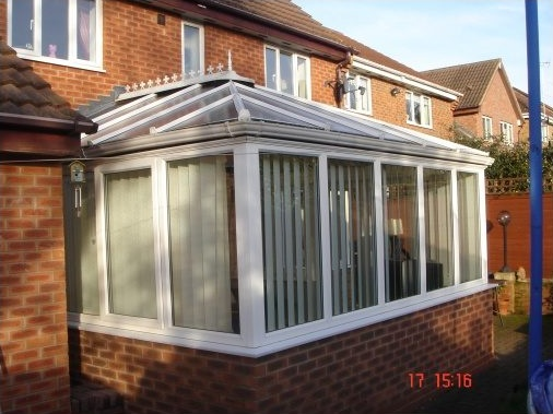 "Conservatory with ""dwarf wall"" brickwork"