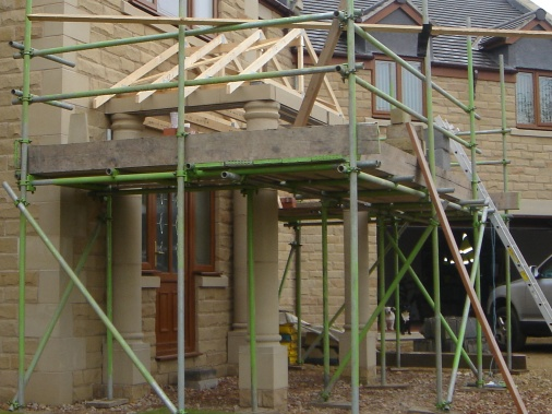 Health and safety requires scaffolding erected by a competent company